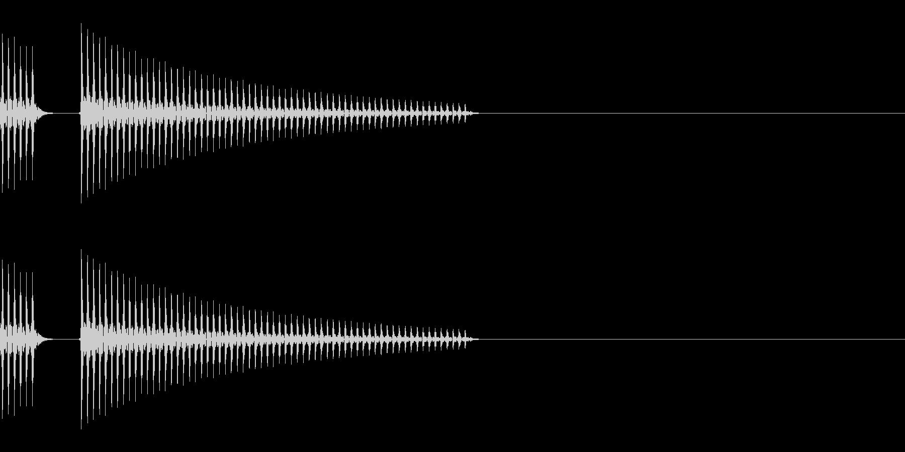 ブッブー(不正解/バツ/柔らかい)の未再生の波形