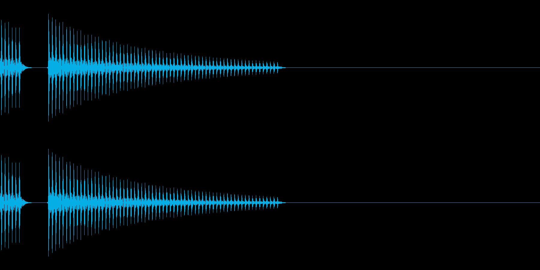 ブッブー(不正解/バツ/柔らかい)の再生済みの波形