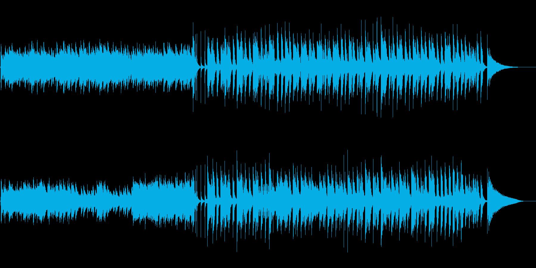 ほんわか 楽しい 温かい アコギの再生済みの波形