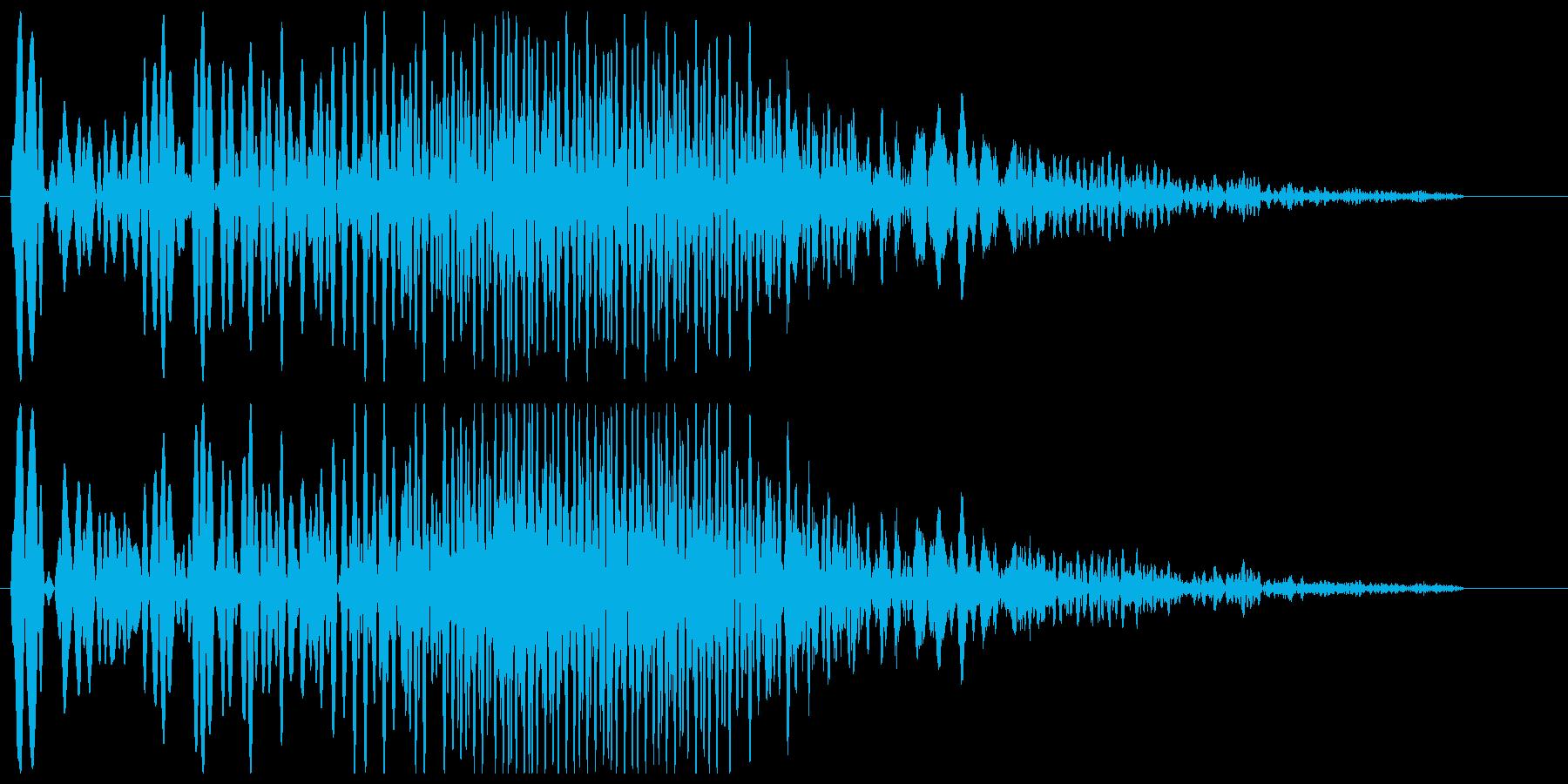 ブーゥンシューーッというマシン作動音の再生済みの波形