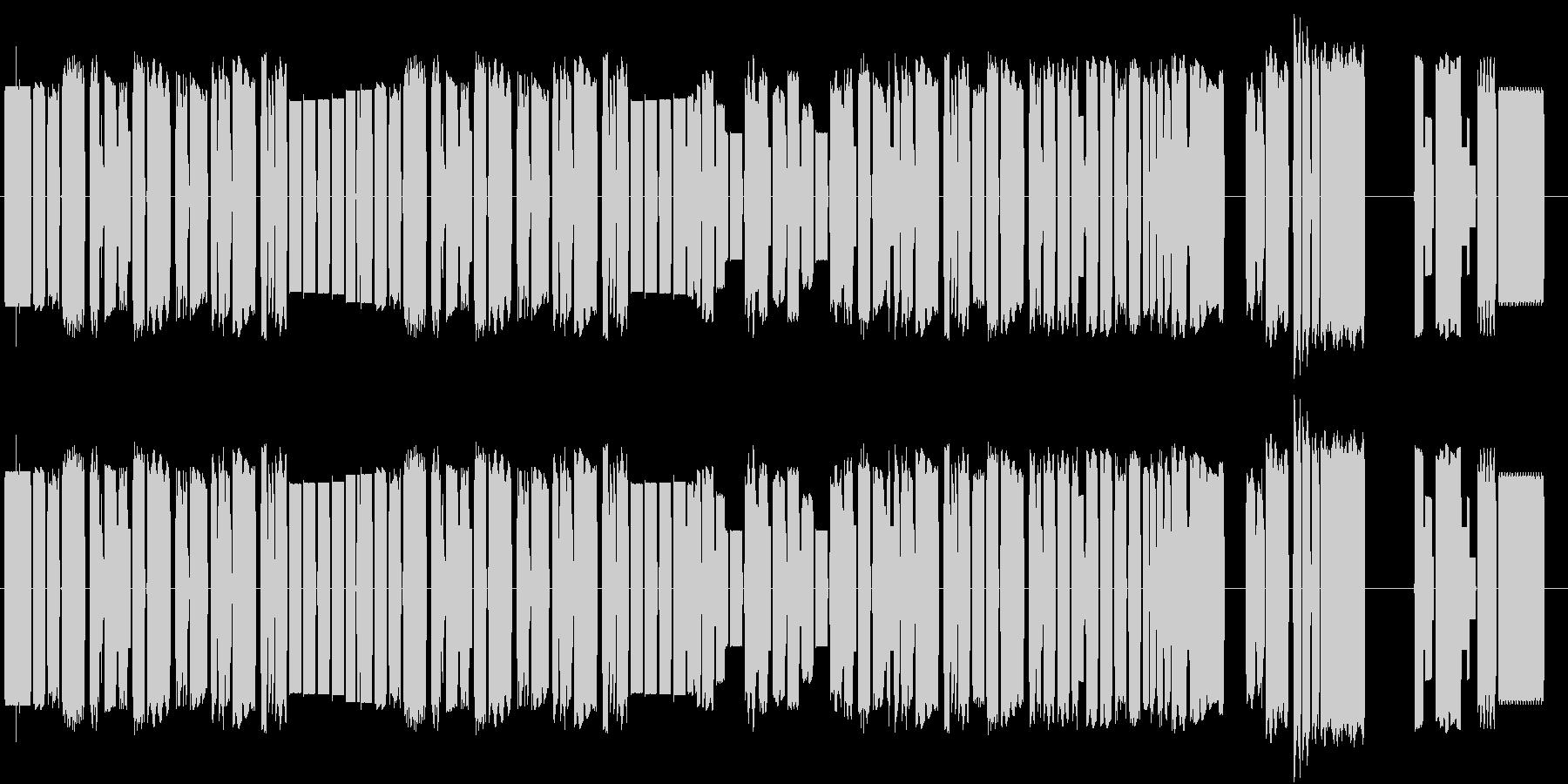 アメリカ国歌星条旗の8bitサウンドの未再生の波形
