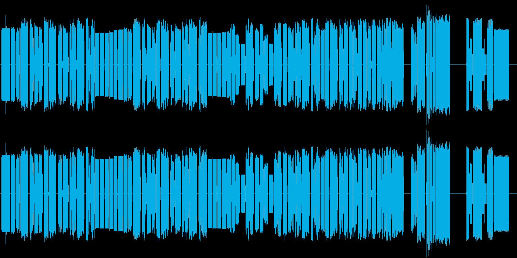 アメリカ国歌星条旗の8bitサウンドの再生済みの波形
