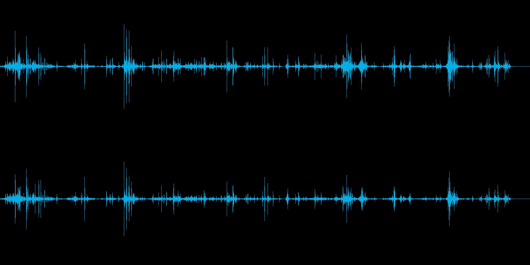 将棋駒を盤面でジャラジャラの再生済みの波形
