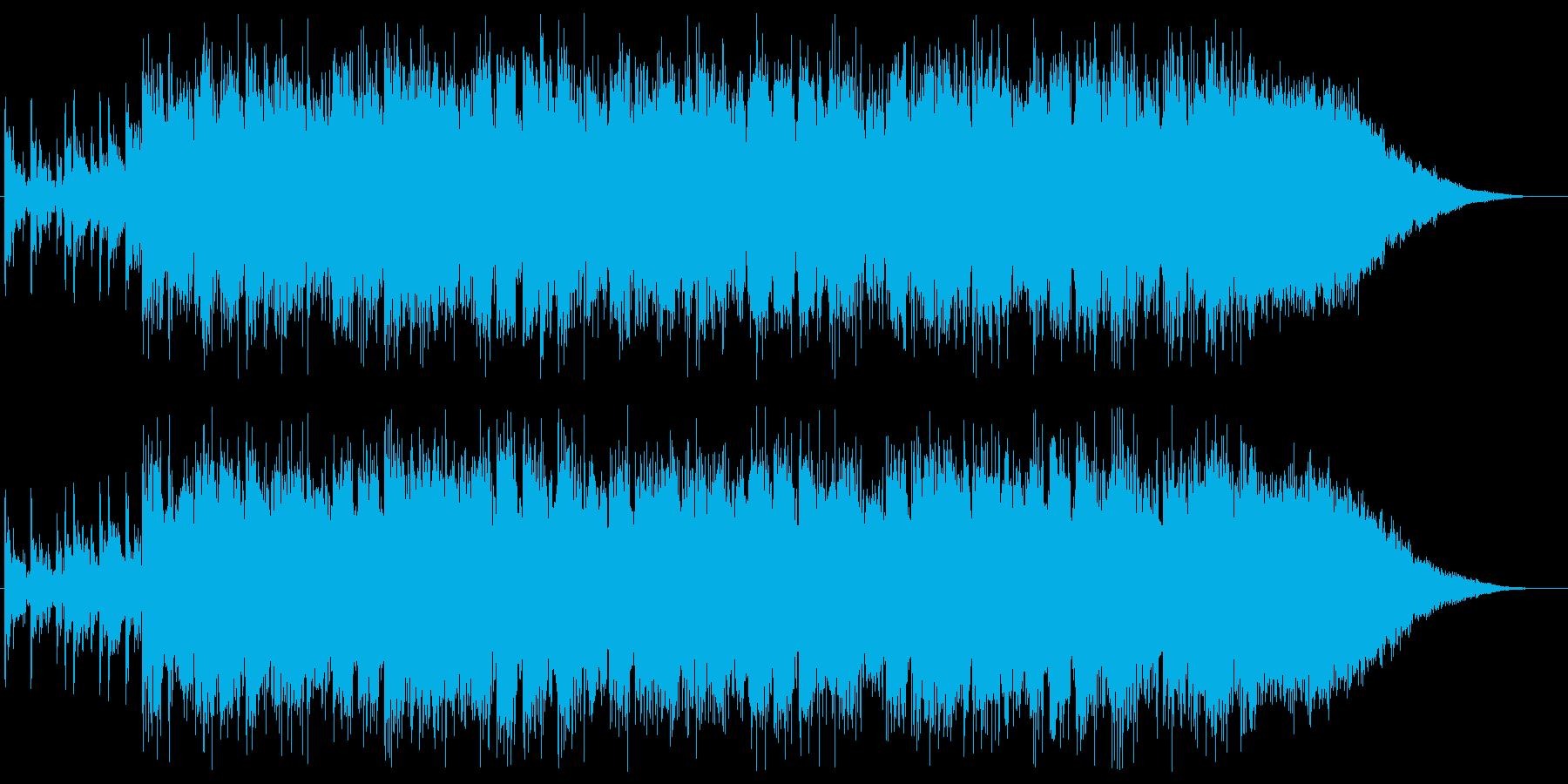不安な予感がするロックギターの再生済みの波形
