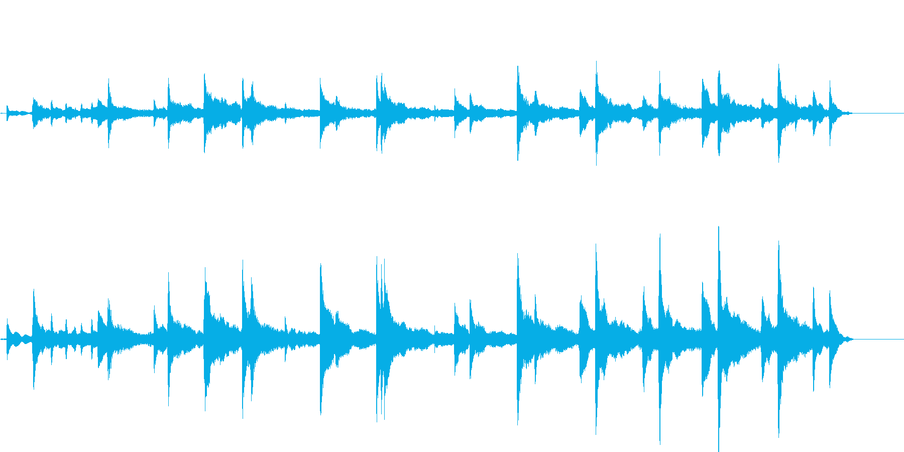不思議で幻想的なイメージ 即興ピアノ_1の再生済みの波形