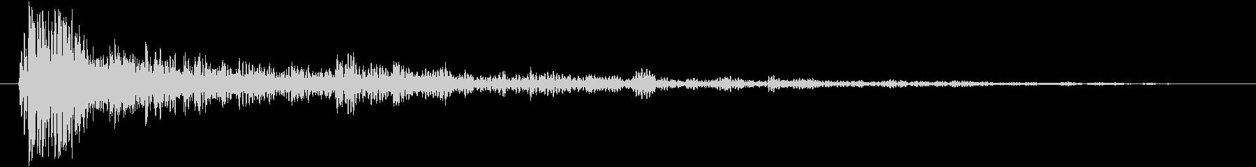 ダークな物音の未再生の波形