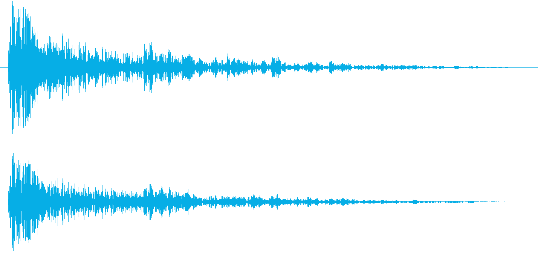 ダークな物音の再生済みの波形
