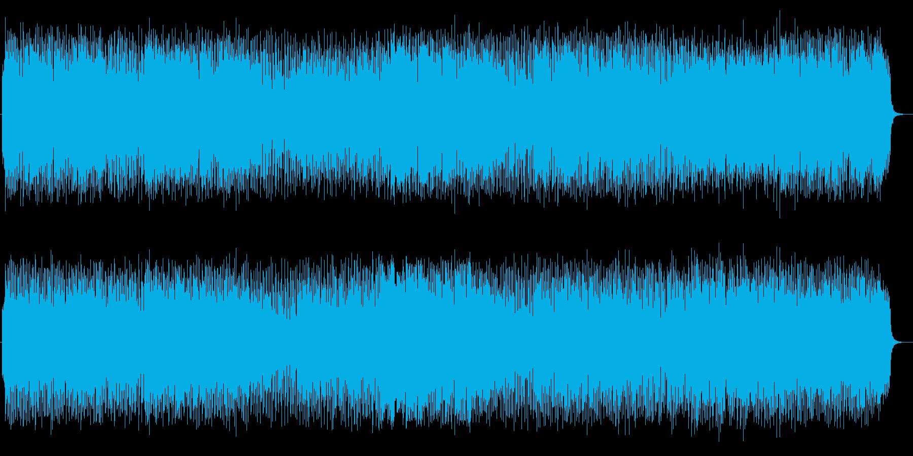 軽快なリズムで爽やなテクノの再生済みの波形