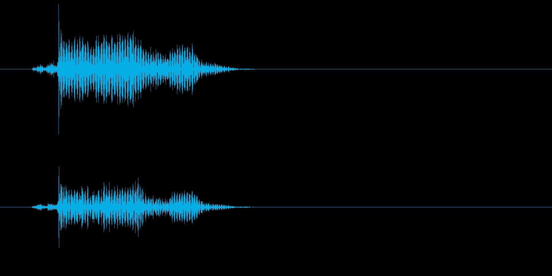 カコッ(マウスクリックを表現する効果音)の再生済みの波形