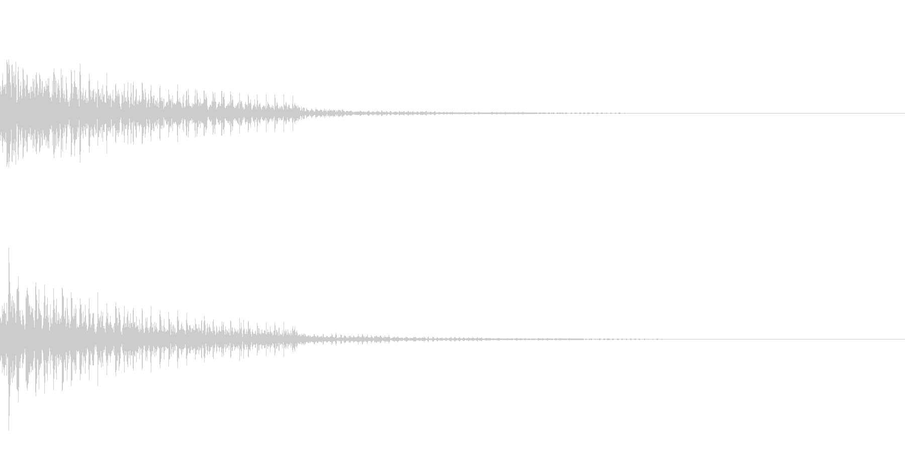 【SE 効果音】停止音の未再生の波形