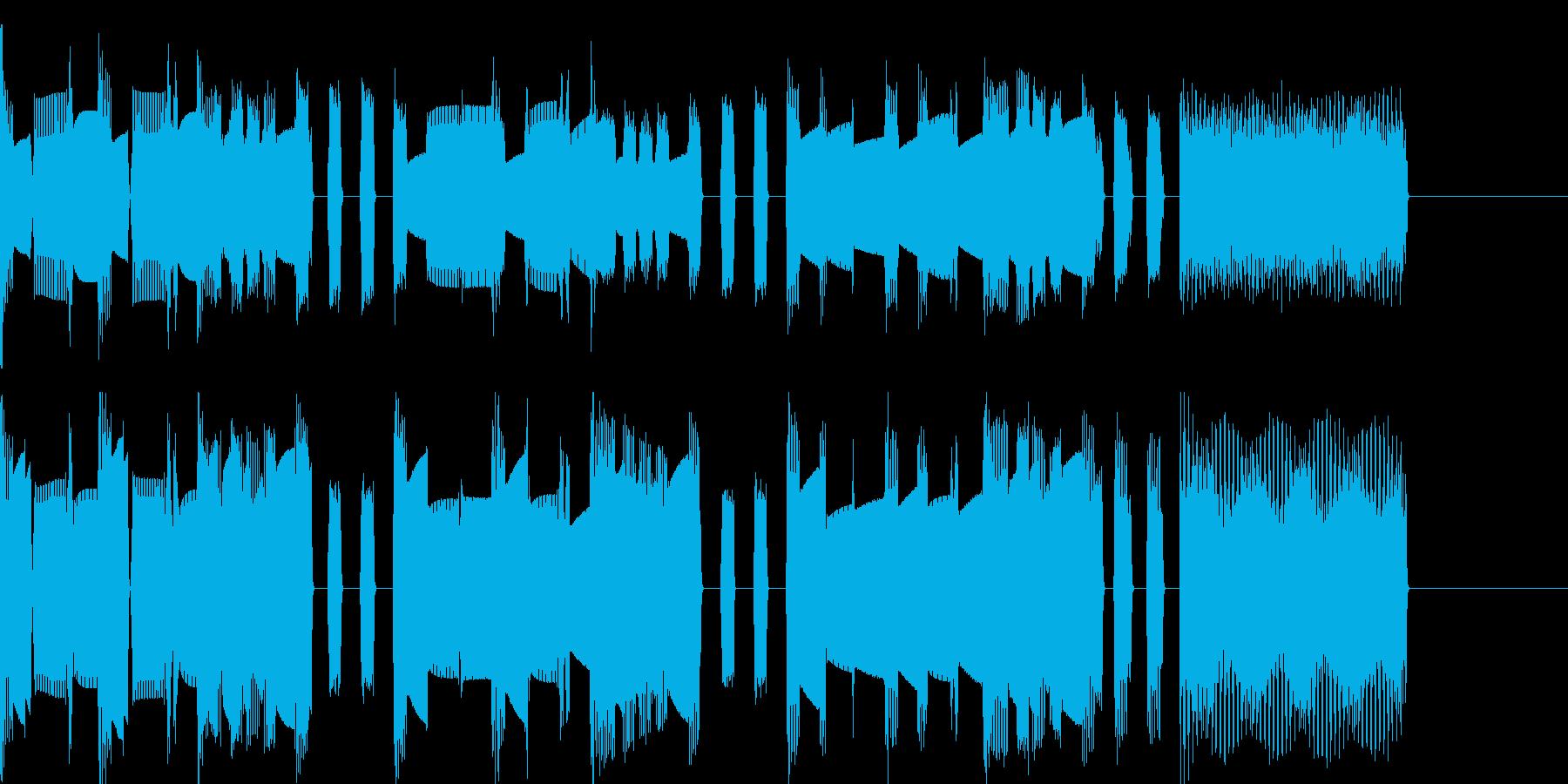 マリオ風ファミコン曲 ステージクリアの再生済みの波形