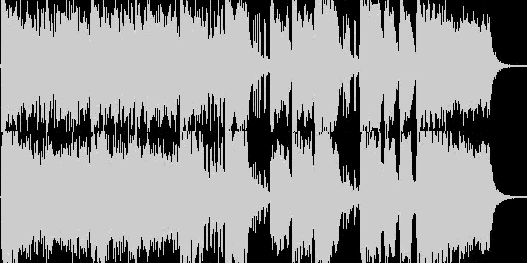 開会式を想定した華やかなファンファーレ…の未再生の波形
