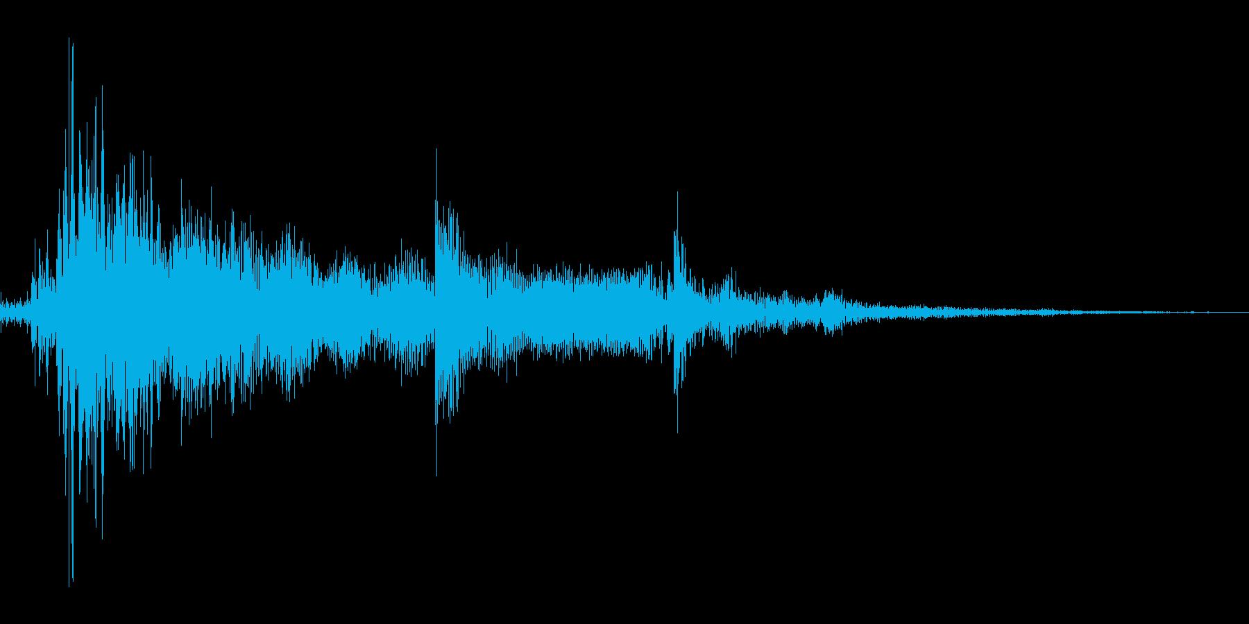 カギが落ちた音mの再生済みの波形
