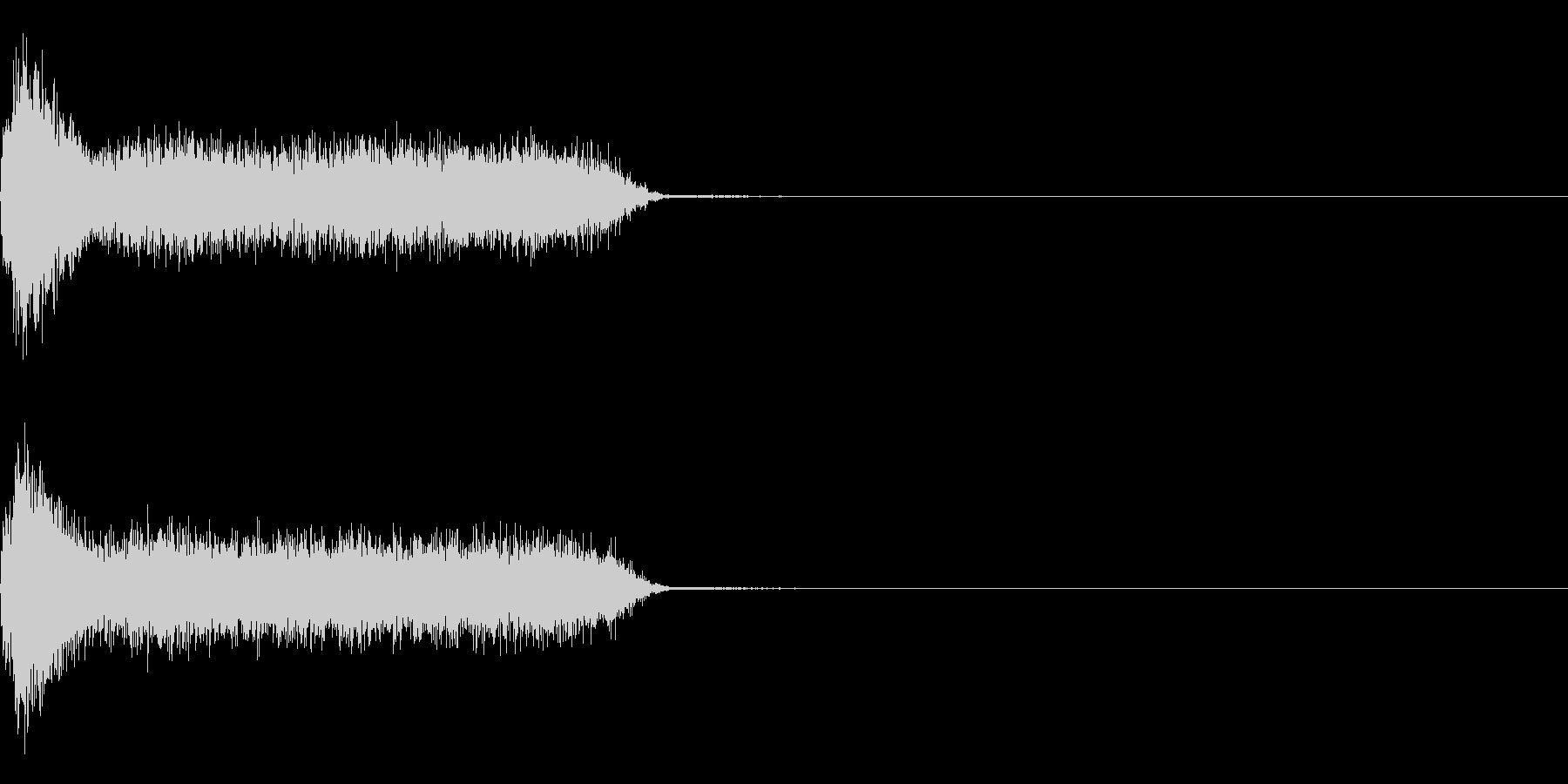 ビリビリ!電撃・感電の音!4ミドルの未再生の波形