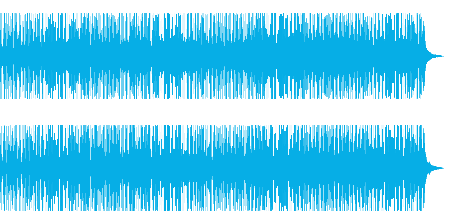 穏やかな日常の幸せを表現したピアノ曲の再生済みの波形