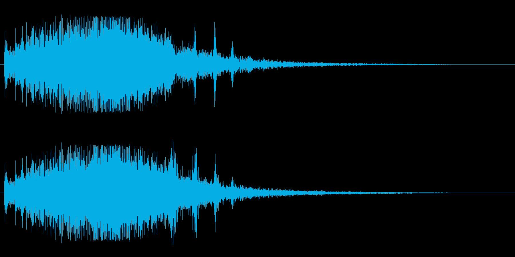 キラキラ(上昇する変身音)の再生済みの波形