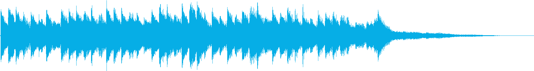 何気ないメロディーのさわやかな音楽の再生済みの波形