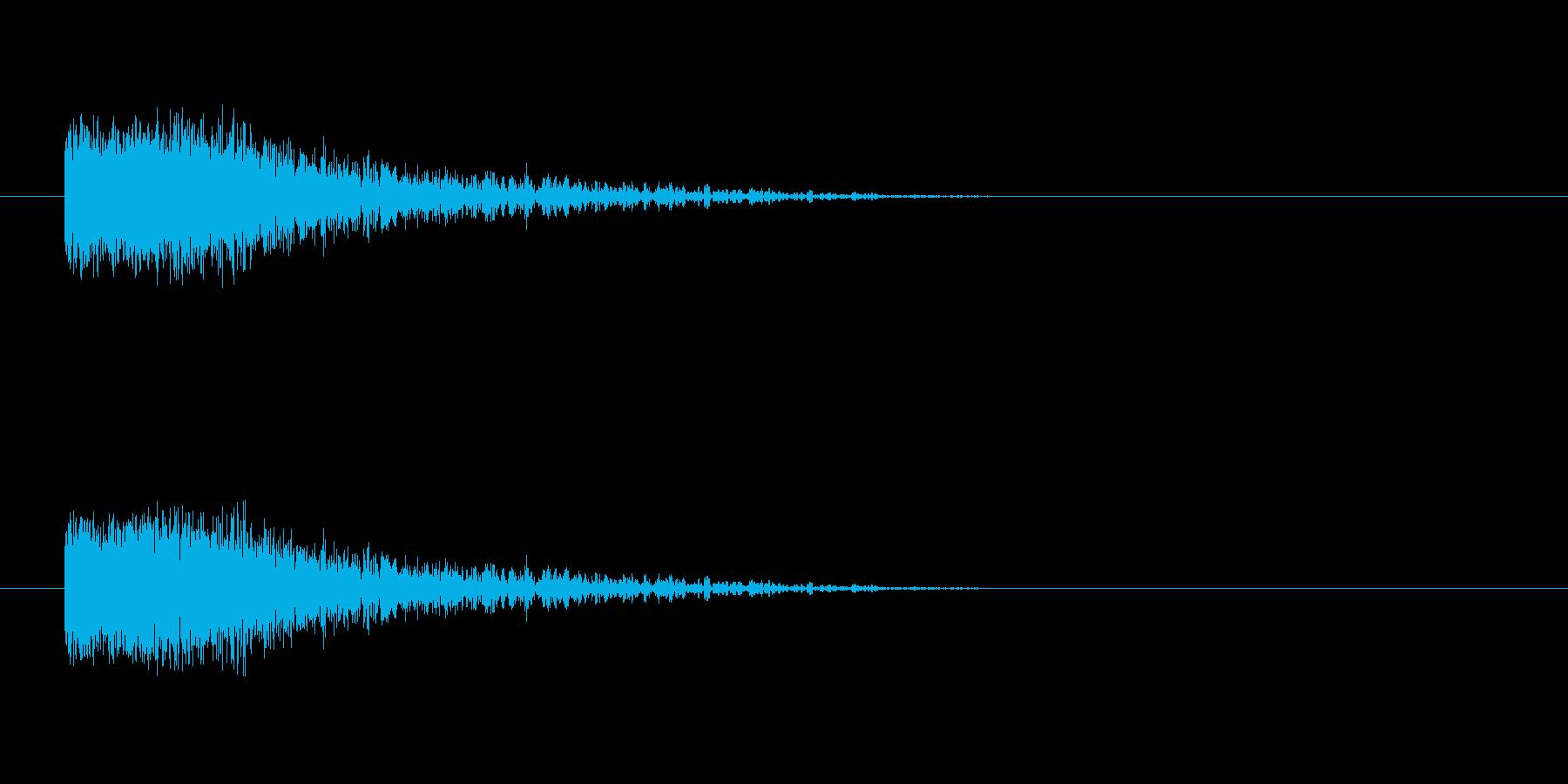 魔法発射の再生済みの波形