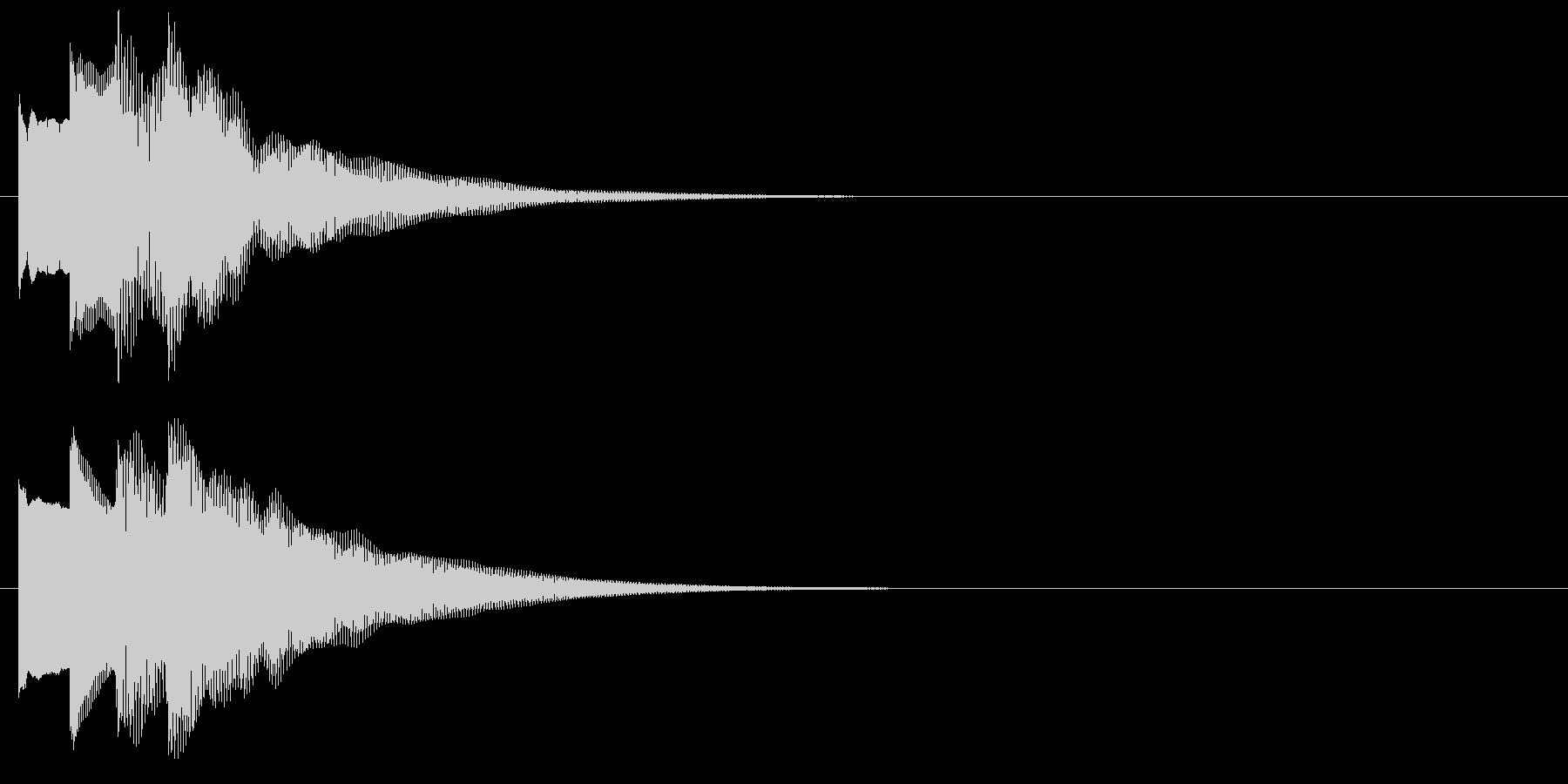 アラーム音04 ベル(sus4)の未再生の波形