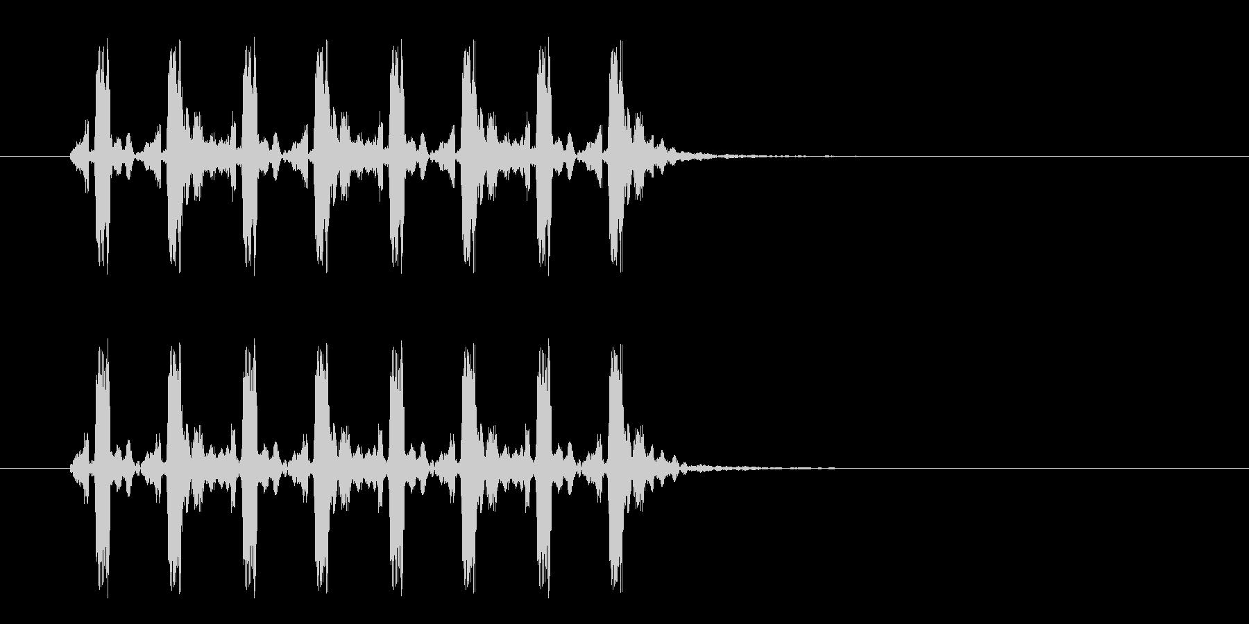 疾走感のあるミステリアスな音楽の未再生の波形