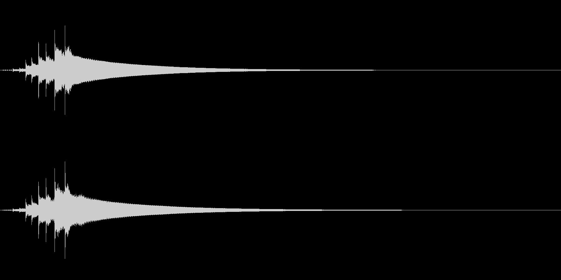 コンコンコーン和物打楽器きんの連続音Fxの未再生の波形