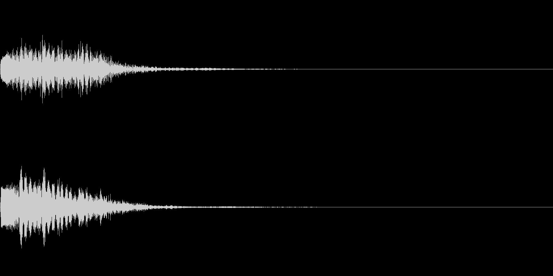ピアノ SE10の未再生の波形