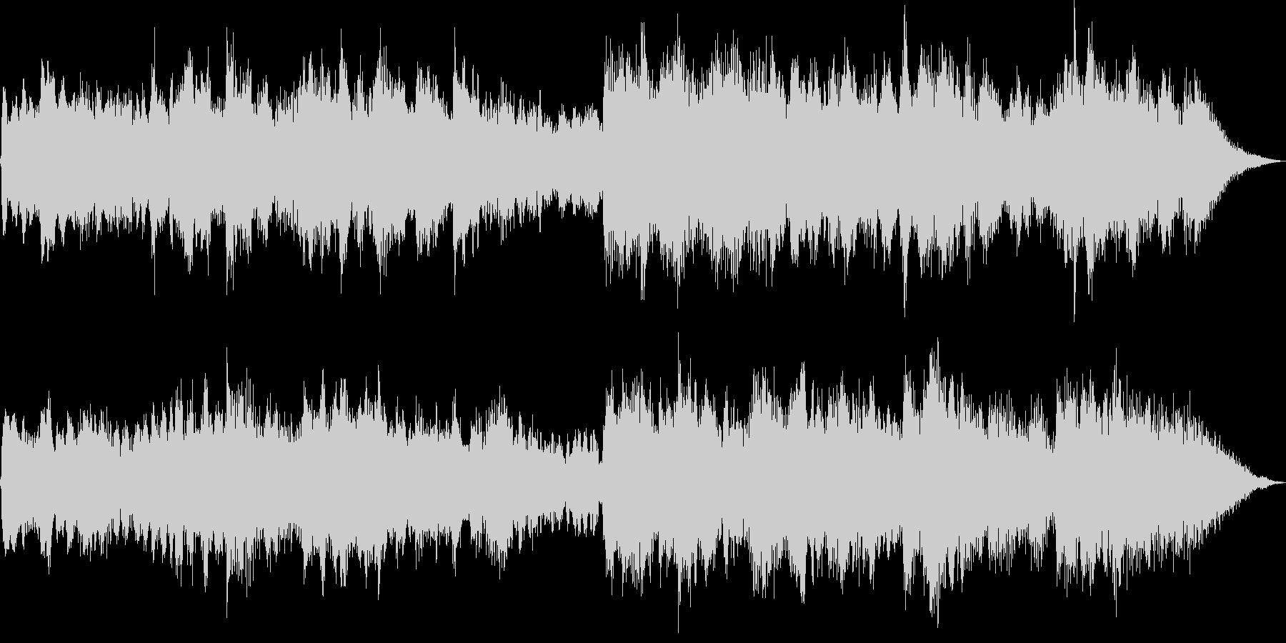 アコギとシンセの悲しく暗いBGMの未再生の波形