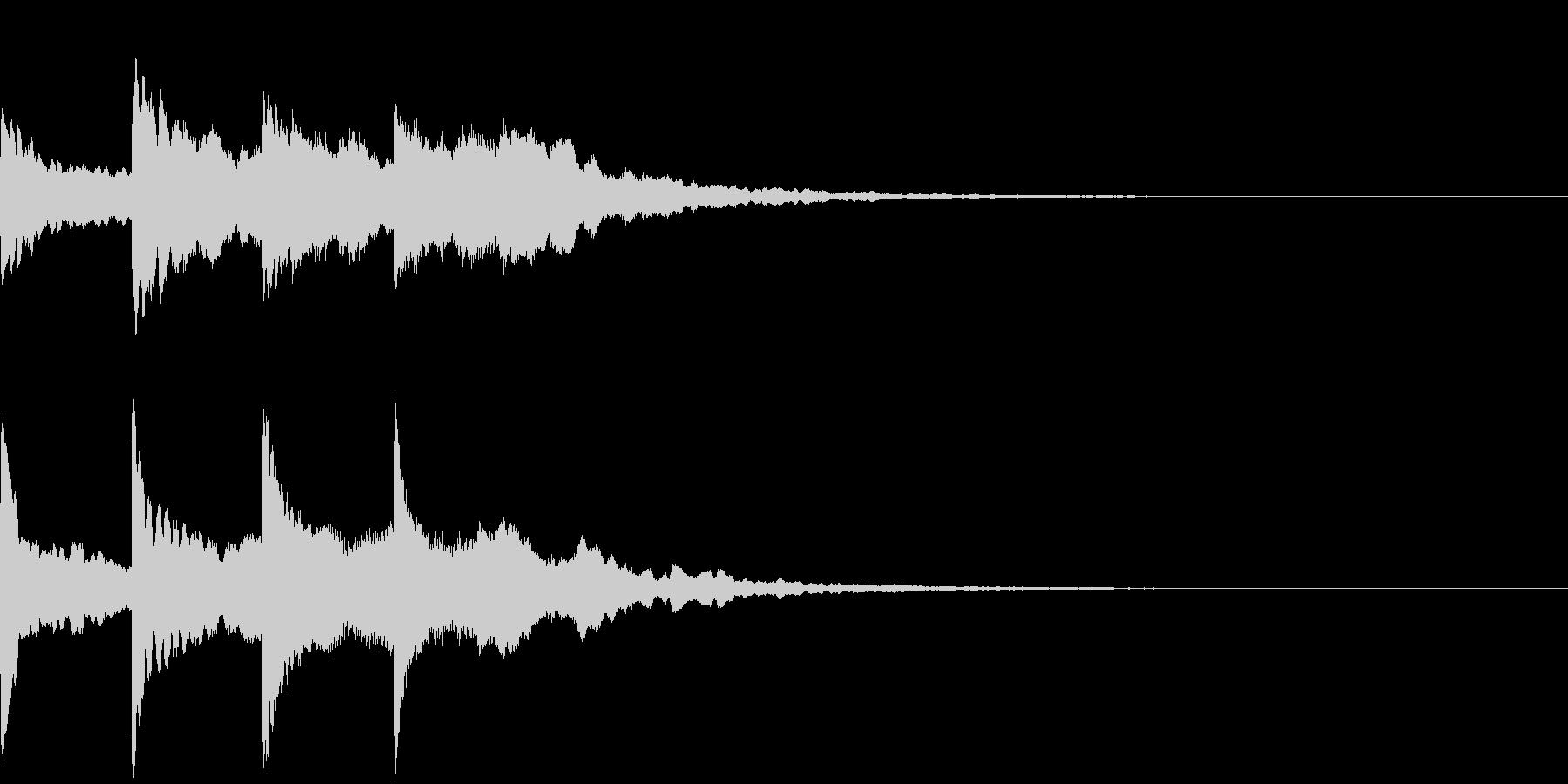 シンプル アナウンス 案内 放送 16の未再生の波形