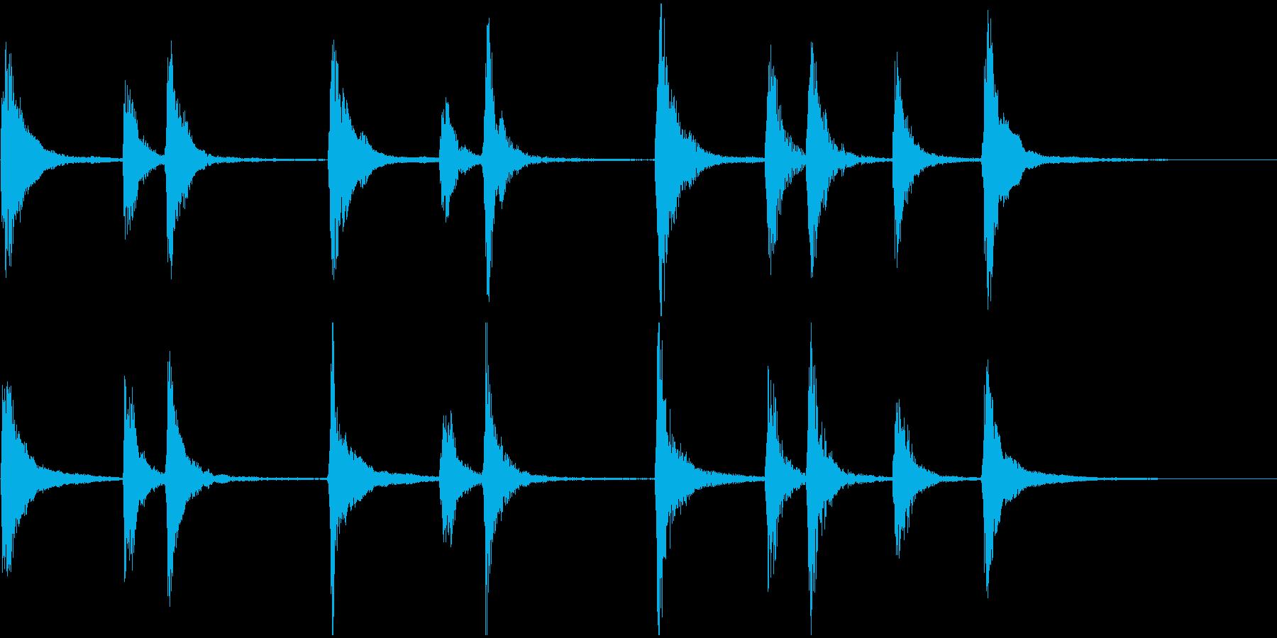 ピチカートのジングルの再生済みの波形
