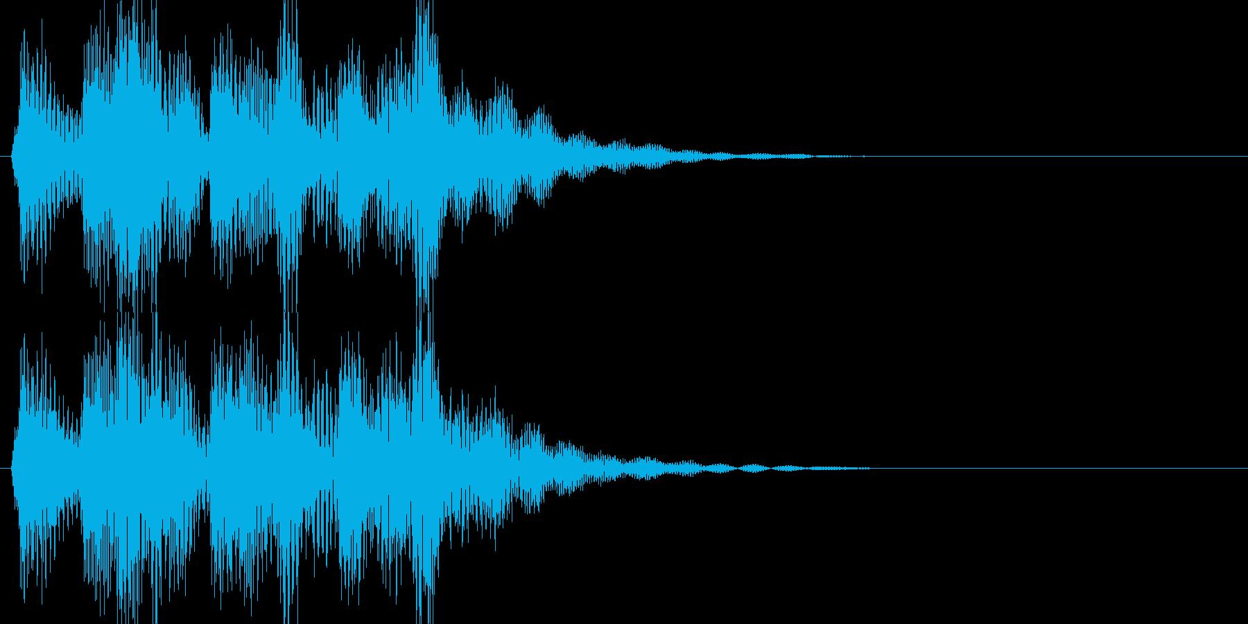 場面転換に 三味線が印象的なサウンドロゴの再生済みの波形
