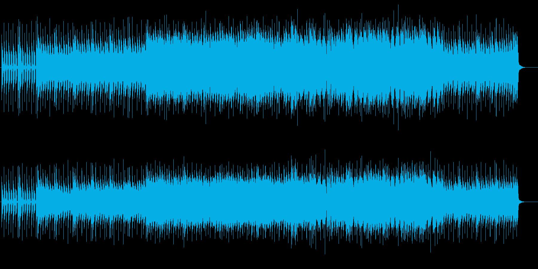 ギターが唸る重厚なロックサウンドの再生済みの波形