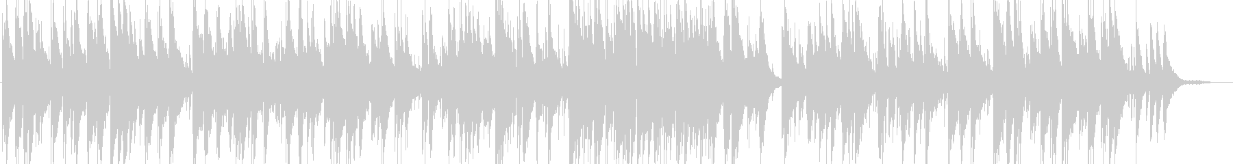 スコットランド民謡のピアノトリオの未再生の波形