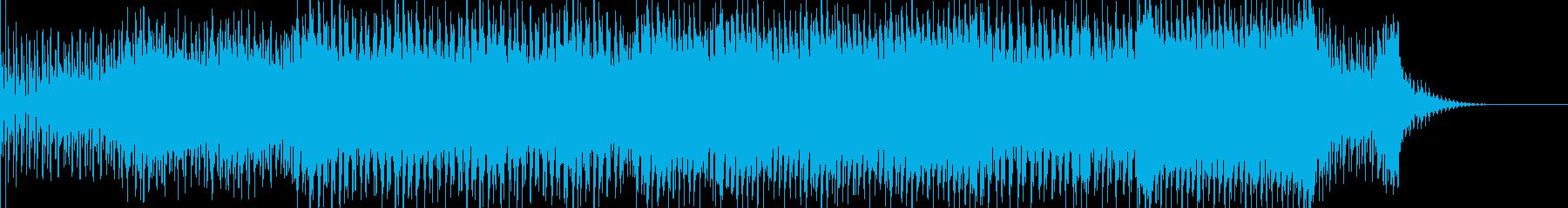 アンビエンスな浮遊感あるBGMの再生済みの波形