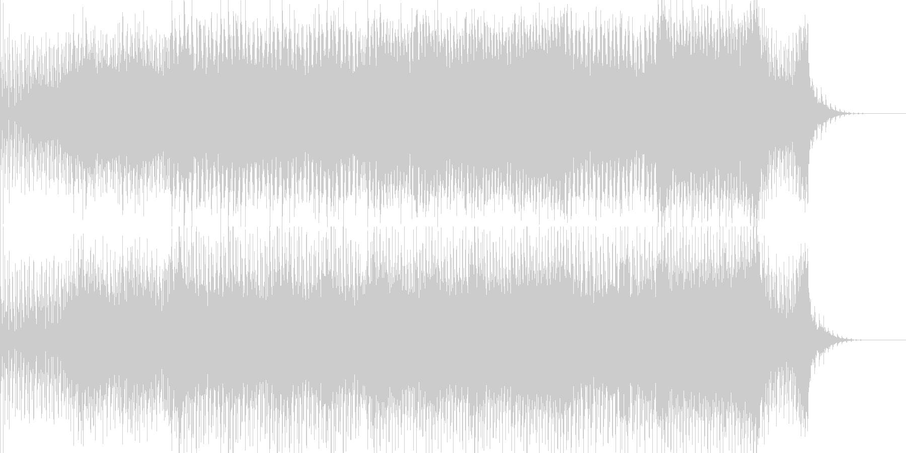アンビエンスな浮遊感あるBGMの未再生の波形