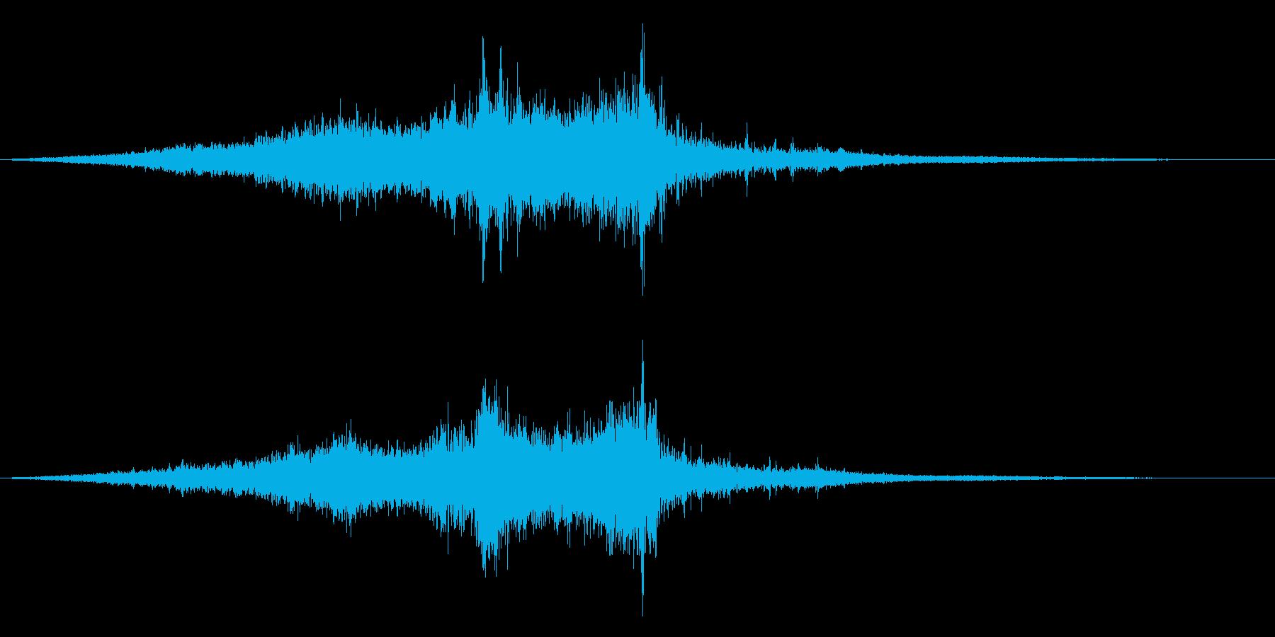 ホラー映画に出てきそうなノイズ系音源21の再生済みの波形