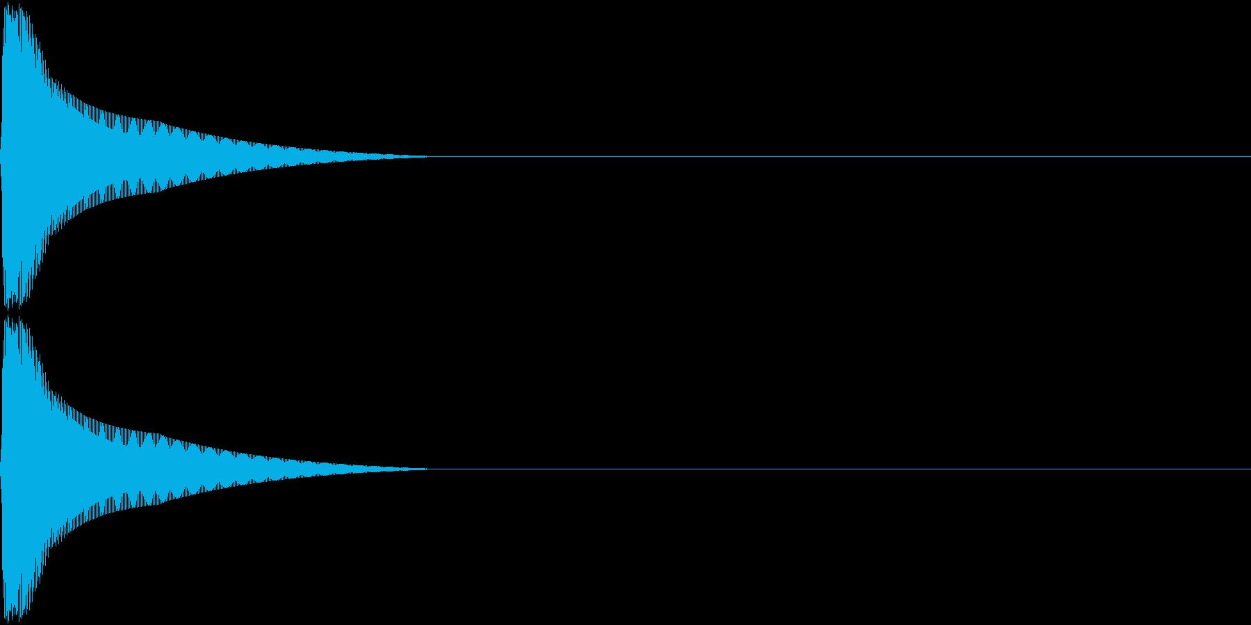 PureTouch アプリ用タッチ音10の再生済みの波形