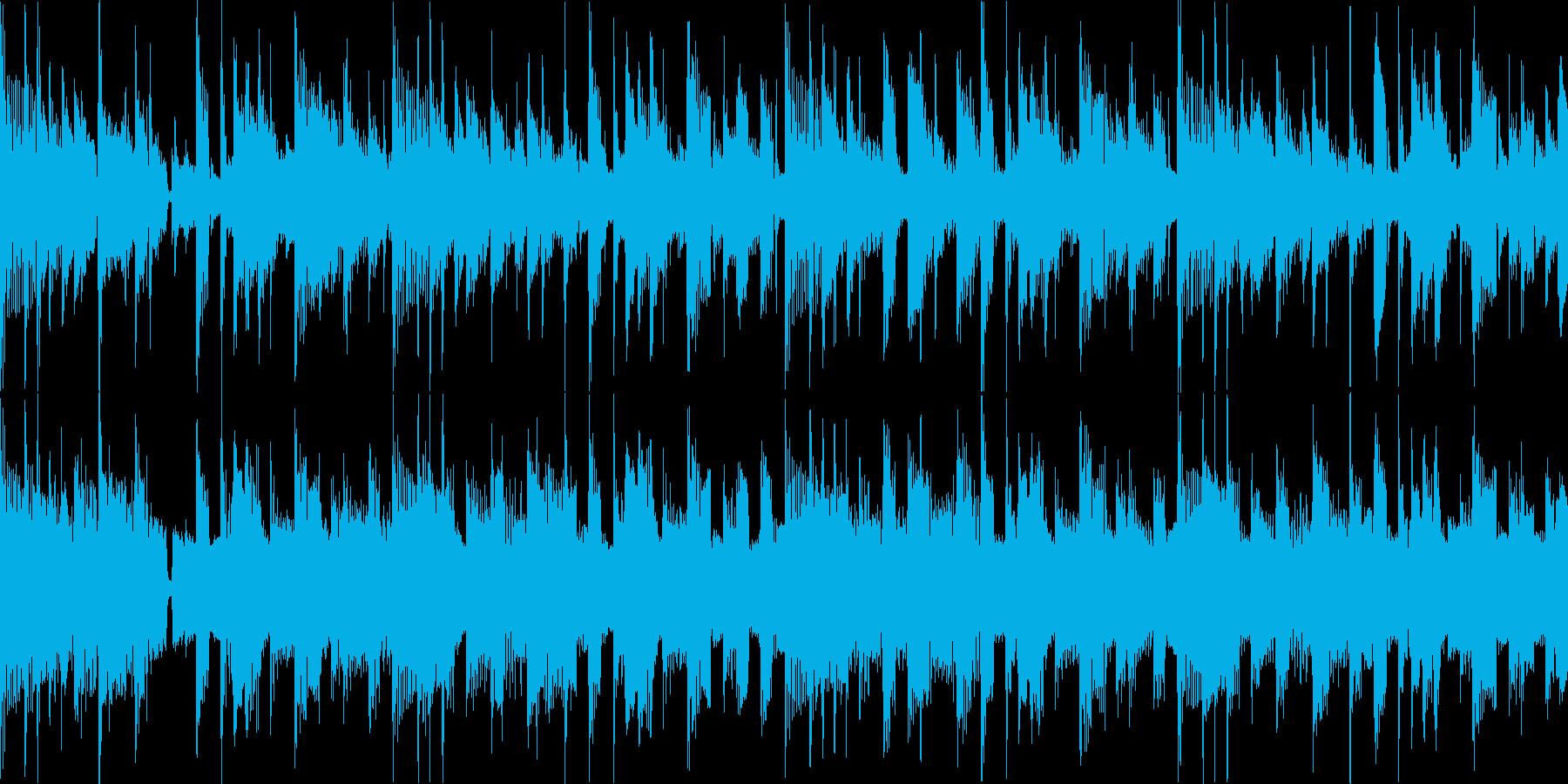 ファンク セッション風 ループ Emの再生済みの波形