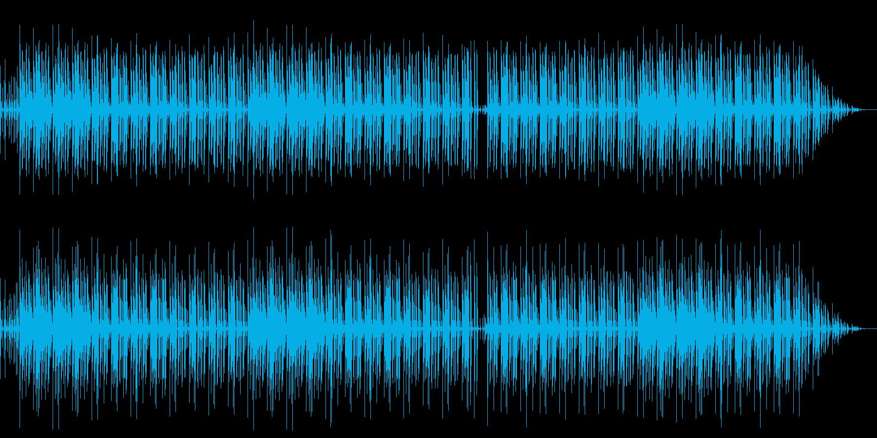 ボサノバ風なリズムの気だるいBGMの再生済みの波形