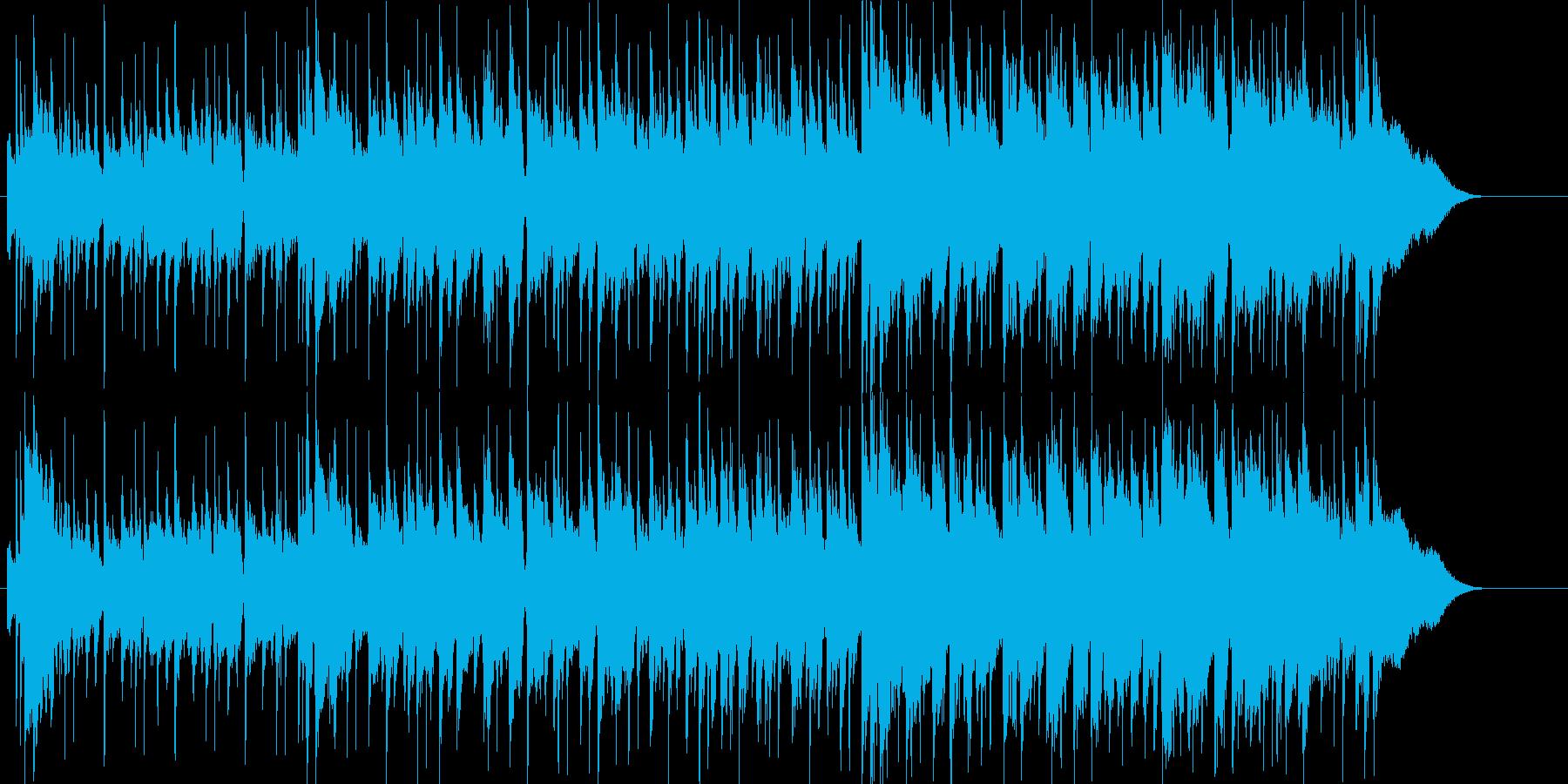 まったりのんびりしたギターのポップBGMの再生済みの波形
