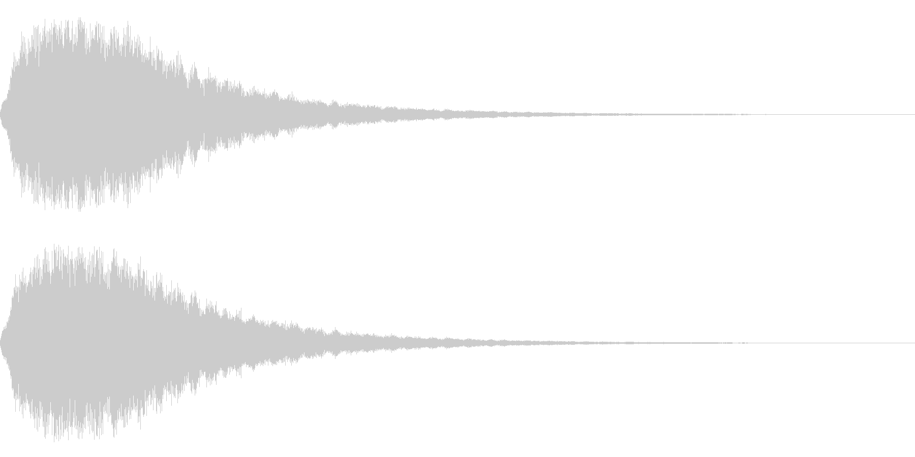 クワァァーーーーーーーーンの未再生の波形