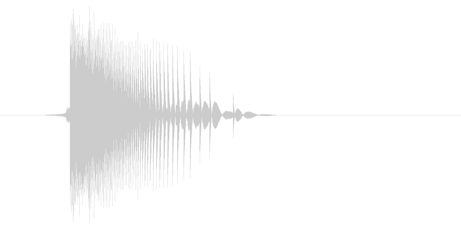 ゲーム(ファミコン風)ヒット音_020の未再生の波形