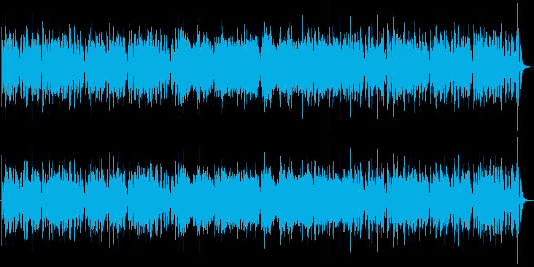 リズミカルで哀愁の漂うラテンチックな音楽の再生済みの波形