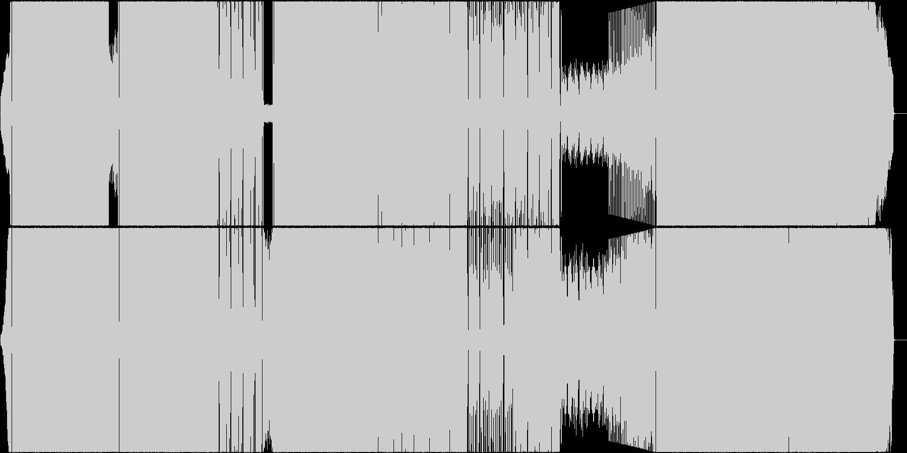 明るく涼しい疾走感あるロックの未再生の波形