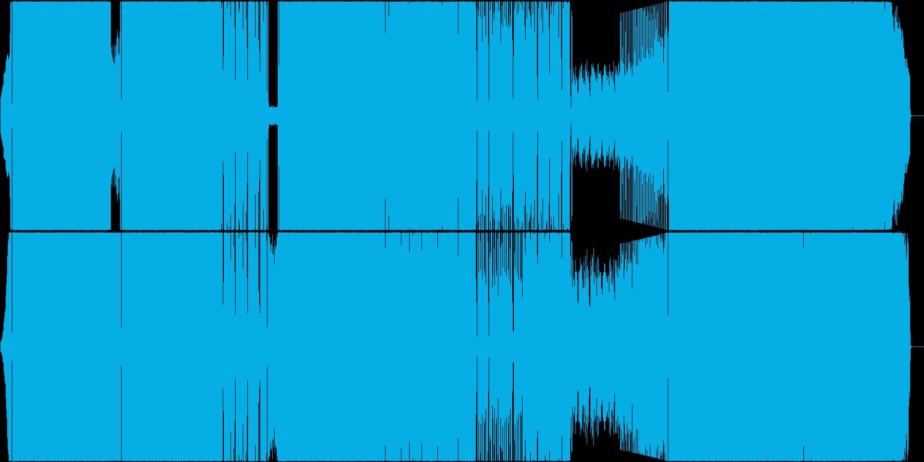 明るく涼しい疾走感あるロックの再生済みの波形