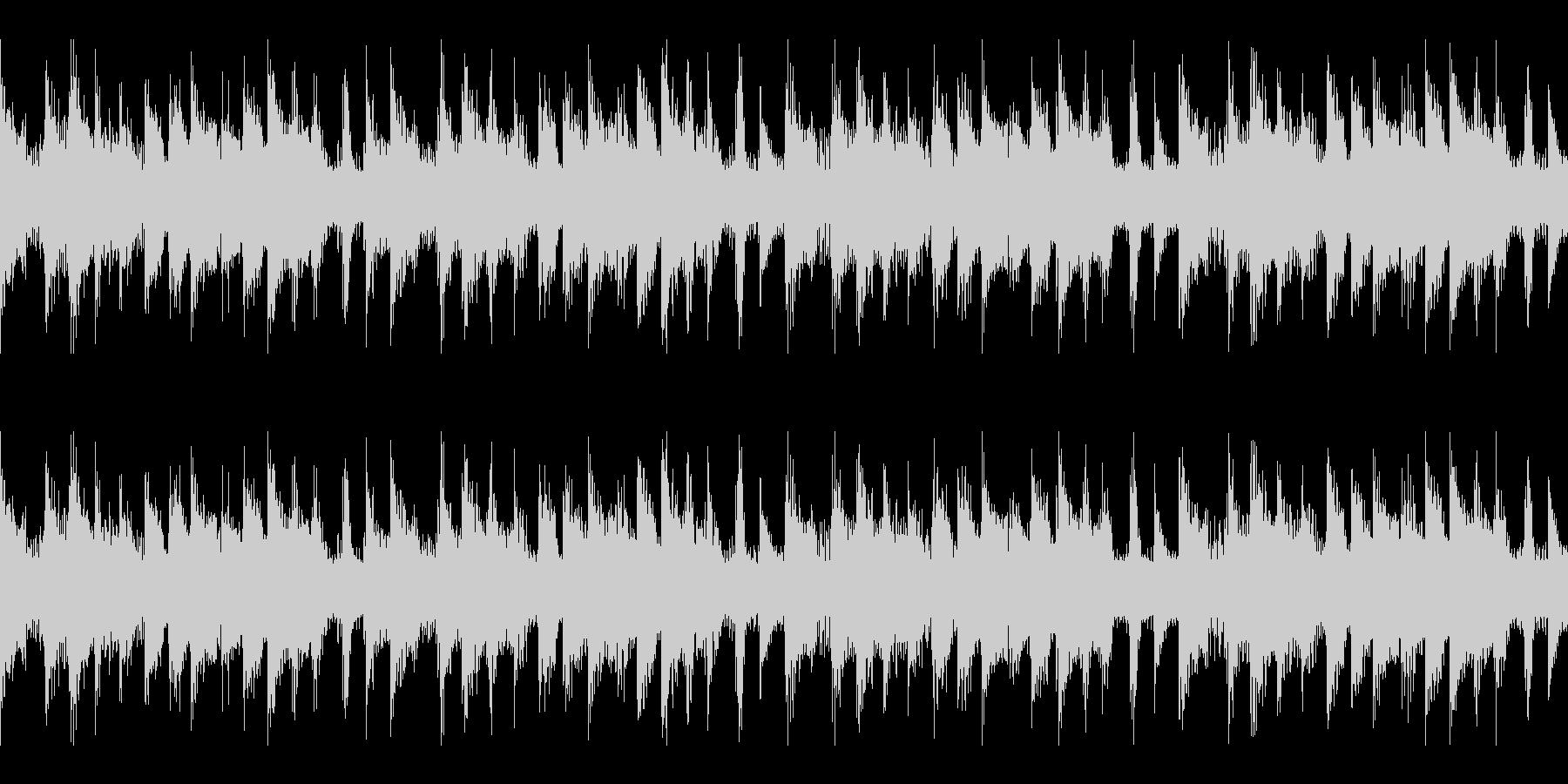 不気味な雰囲気のループ仕様 BGMの未再生の波形