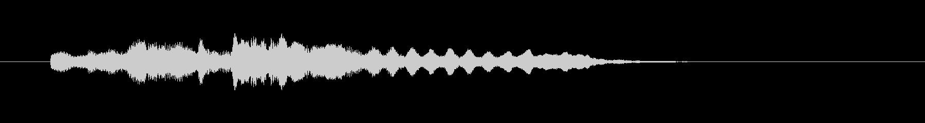 フルートのやさしいメロディーの未再生の波形