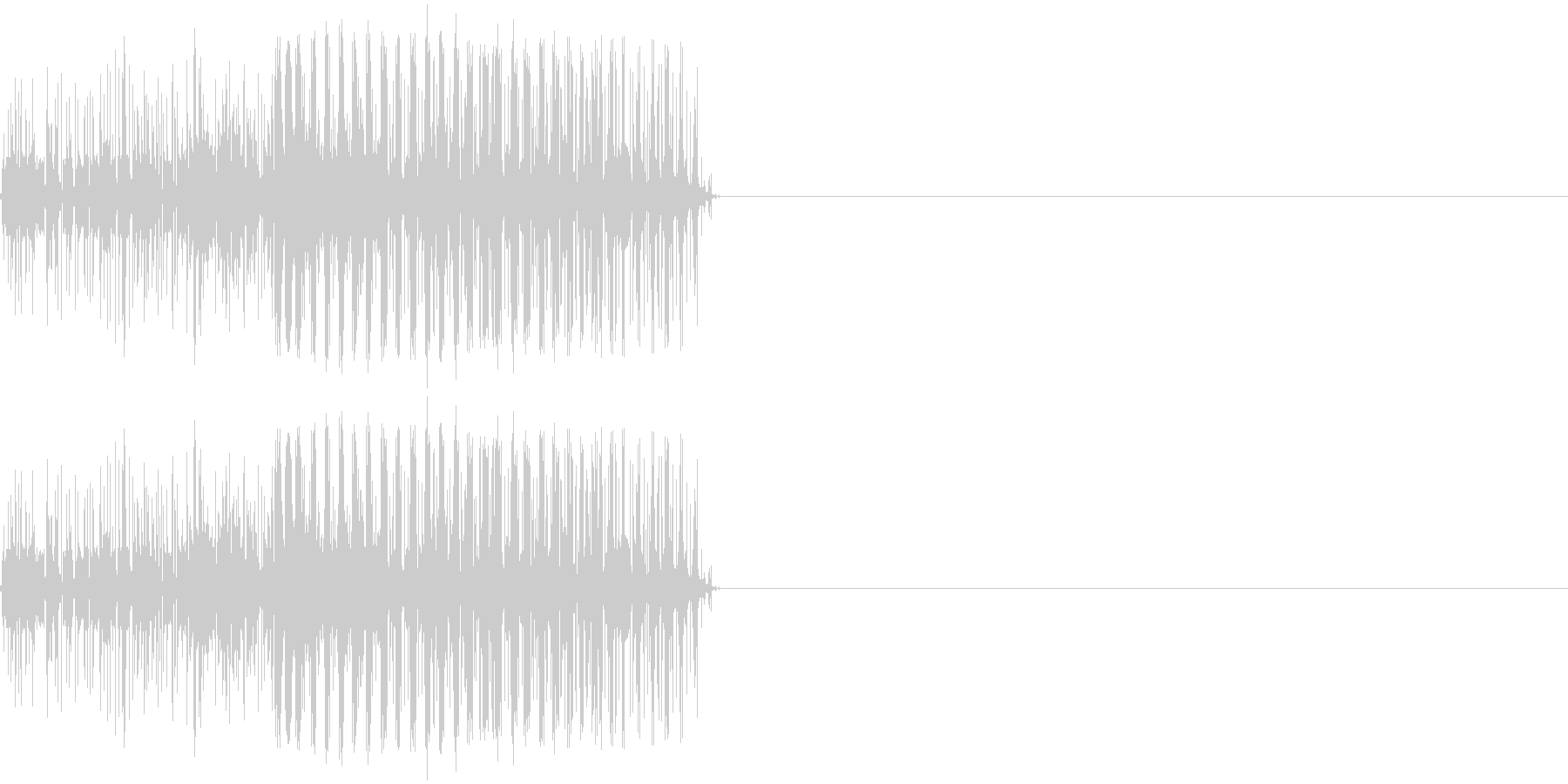 ビリリ! 短い電撃音1の未再生の波形