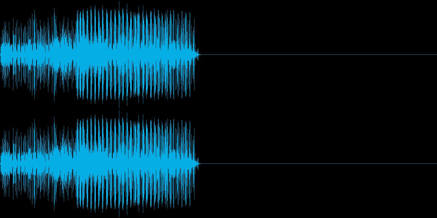 ビリリ! 短い電撃音1の再生済みの波形
