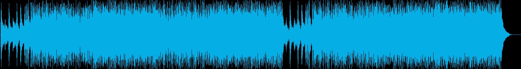 エキサイティングで元気なポップロックの再生済みの波形
