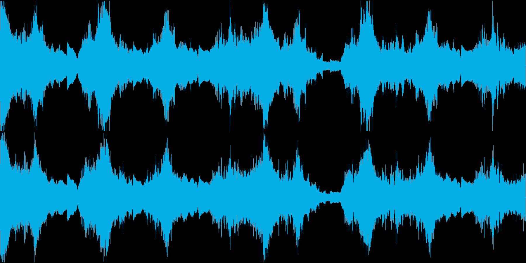 不気味な空間演出に最適のホラーサウンドの再生済みの波形